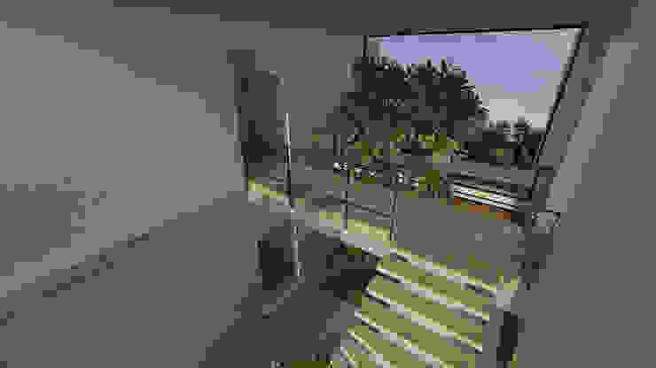 casa pp Corredores, halls e escadas modernos por grupo pr | arquitetura e design Moderno
