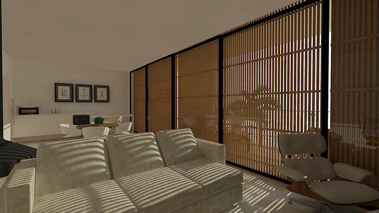 casa pp Salas de estar modernas por grupo pr | arquitetura e design Moderno