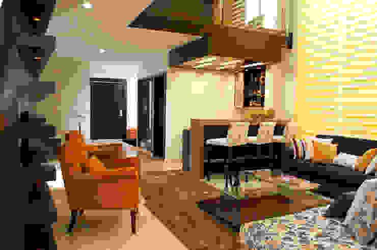 Living room by arketipo-taller de arquitectura, Modern
