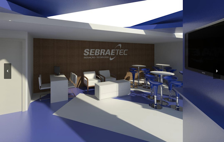 Estandes - SebraeTec Salas multimídia modernas por Arquitetura do Brasil Moderno