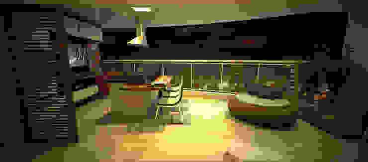 Apartamento Sky - Loteamento Aquarius - Salvador/BA Varandas, alpendres e terraços modernos por Arquitetura do Brasil Moderno