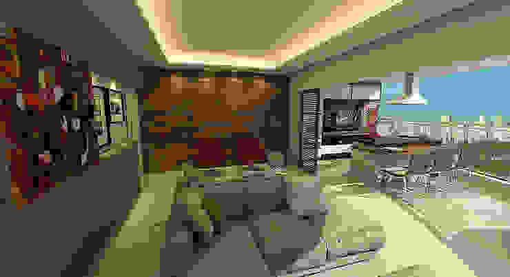 Apartamento Sky - Loteamento Aquarius - Salvador/BA Salas de estar modernas por Arquitetura do Brasil Moderno