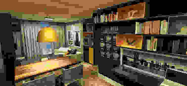 Apartamento - Res. Iluminato - Águas Claras/DF Salas de estar modernas por Arquitetura do Brasil Moderno