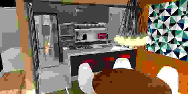 Apartamento - AOS 06 - Octogonal - Brasília/DF Cozinhas modernas por Arquitetura do Brasil Moderno