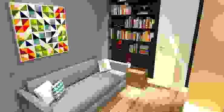 Apartamento - AOS 06 - Octogonal - Brasília/DF Salas de estar modernas por Arquitetura do Brasil Moderno