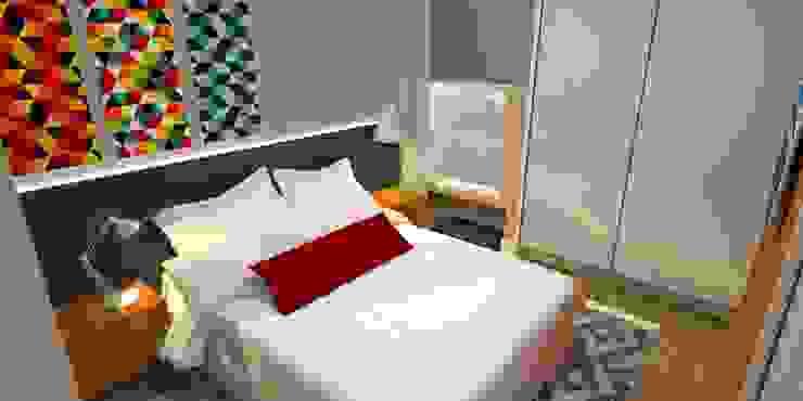 Dormitorios de estilo moderno de Arquitetura do Brasil Moderno