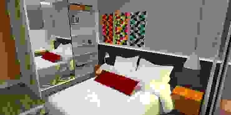 Apartamento - AOS 06 - Octogonal - Brasília/DF Quartos modernos por Arquitetura do Brasil Moderno