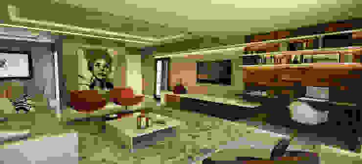Apartamento - Ed. Palazzo Reale - Salvador/BA Salas de estar modernas por Arquitetura do Brasil Moderno