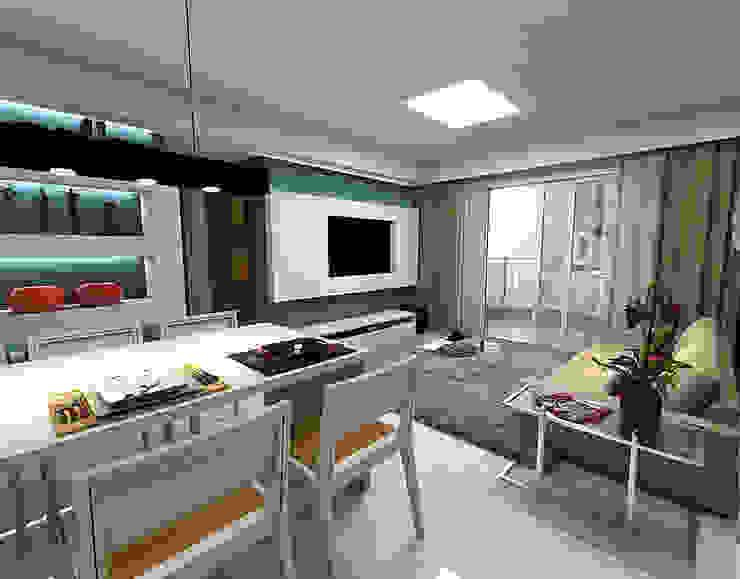 Living - Horto Bela Vista - Salvador/BA Salas de estar modernas por Arquitetura do Brasil Moderno
