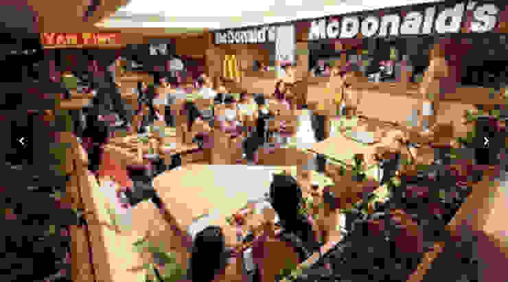 Praça de Alimentação do Alameda Shopping - Taguatinga/DF Shopping Centers modernos por Arquitetura do Brasil Moderno