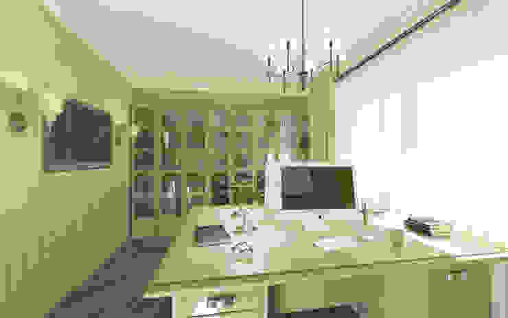 Неоклассика: визуализация и дизайн Дома Досуга Рабочий кабинет в классическом стиле от OK Interior Design Классический