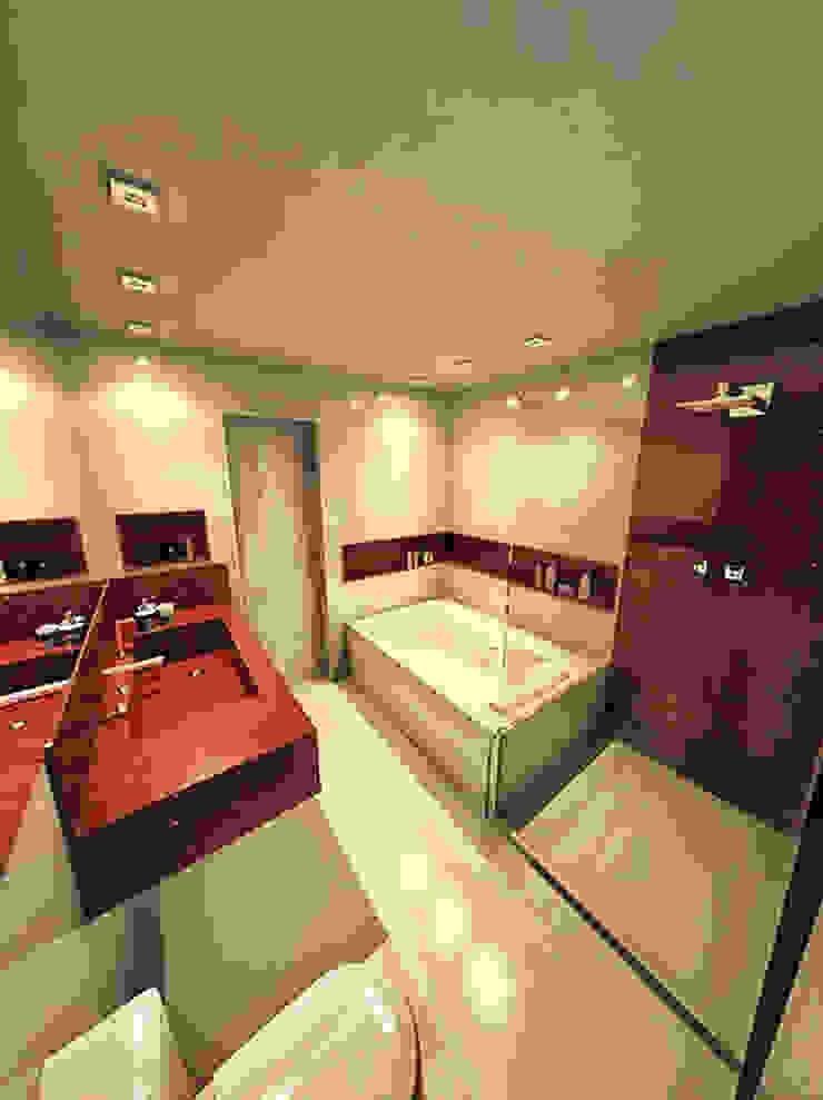 ANTES e DEPOIS - Banheiro - Apartamento Sky - Salvador/BA por Arquitetura do Brasil
