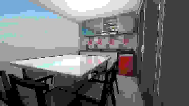 Arquitetura do Brasil Modern balcony, veranda & terrace