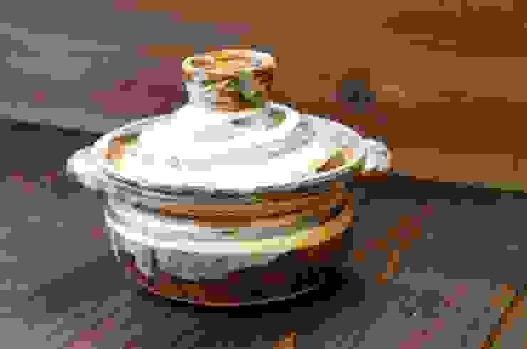 しましまのたっぷり一人用土鍋: 月下陶房が手掛けた折衷的なです。,オリジナル 陶器