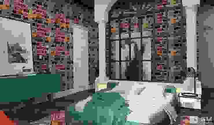 Эксклюзивный дизайн-проект дома в стиле эклектика Спальня в эклектичном стиле от GM-interior Эклектичный
