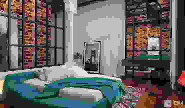 Eklektyczna sypialnia od GM-interior Eklektyczny