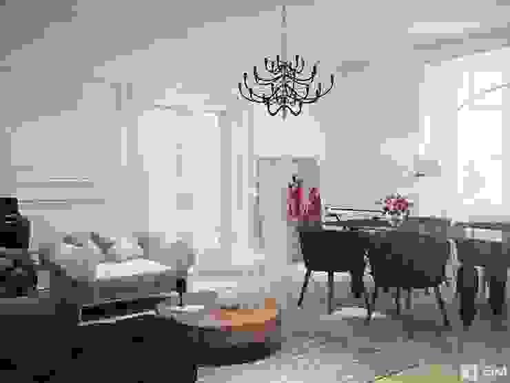 Living room Гостиные в эклектичном стиле от GM-interior Эклектичный