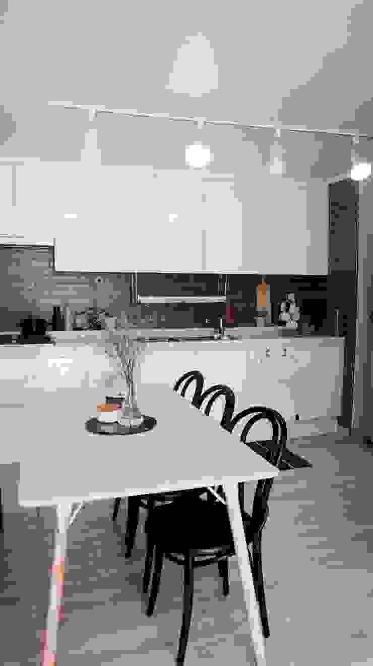 신혼집 20평대 self interior 스칸디나비아 다이닝 룸 by toki 북유럽