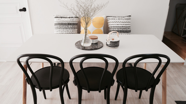 Scandinavian style dining room by toki Scandinavian