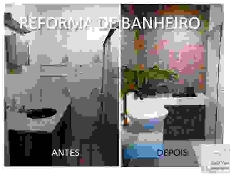 Reforma de banheiro antes e depois por Lúcia Vale Interiores