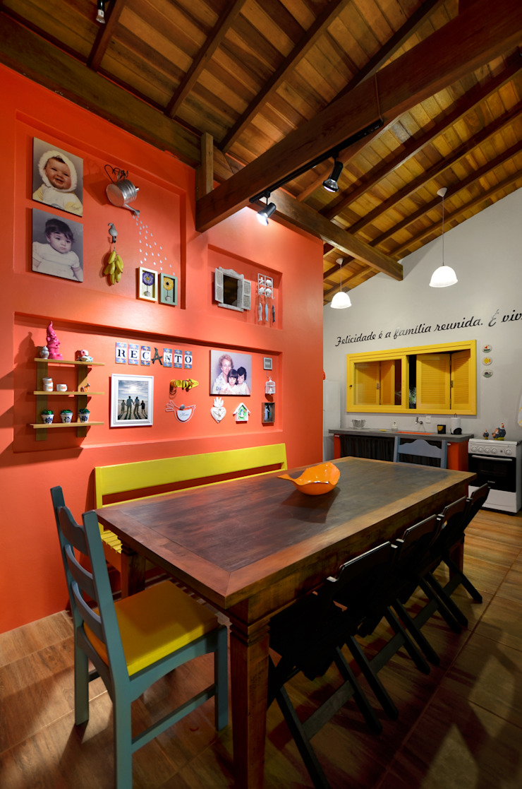 Arquitetando ideias Tropical style dining room