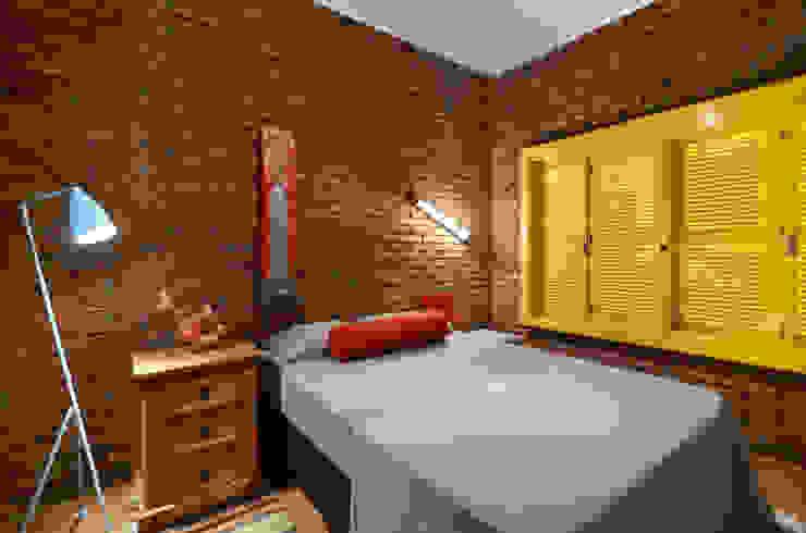 Egzotyczna sypialnia od Arquitetando ideias Egzotyczny