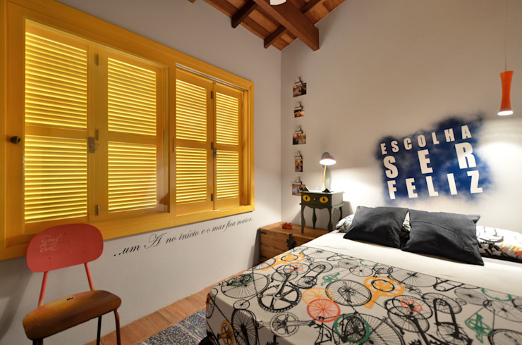 Tropical style bedroom by Arquitetando ideias Tropical