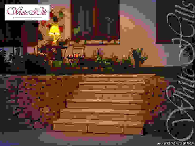 Treppe mit Betonsteinen Garten im Landhausstil von White Hills Stones GmbH Landhaus Beton