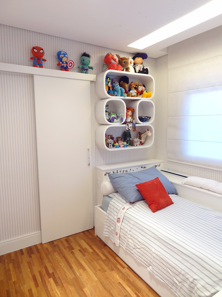 05_Projeto de Interiores Quarto infantil moderno por Paula Carvalho Arquitetura Moderno
