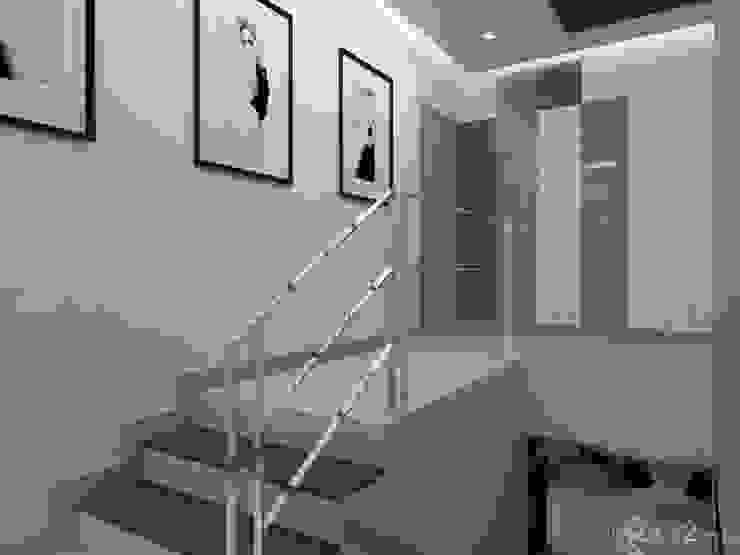 Korytarz Nowoczesny korytarz, przedpokój i schody od in2home Nowoczesny