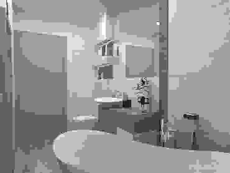 Łazienka z wolno stojącą wanną Nowoczesna łazienka od in2home Nowoczesny Płytki