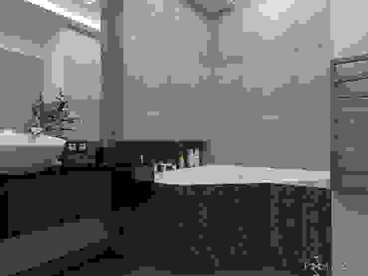 Łazienka z błyszczącym kwarcytem Nowoczesna łazienka od in2home Nowoczesny Kwarc