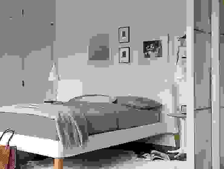 Parallel Queen Bed de Design Within Reach Mexico Moderno Cuero Gris