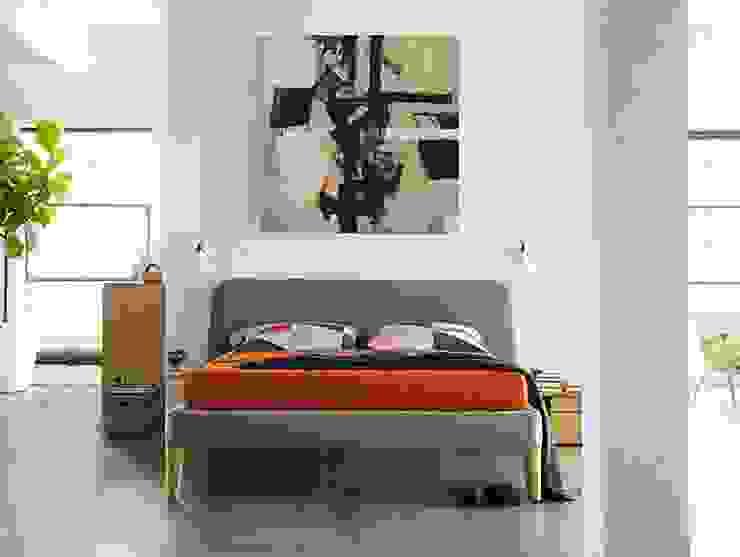 Parallel Queen Bed de Design Within Reach Mexico Moderno Textil Ámbar/Dorado