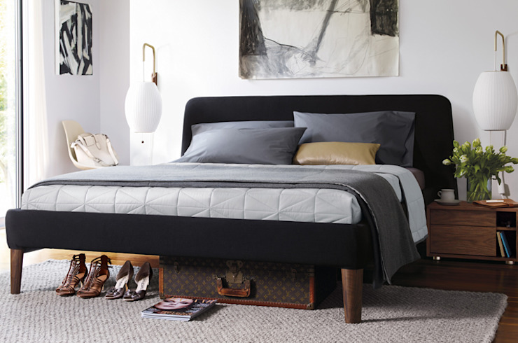 Parallel Queen Bed de Design Within Reach Mexico Moderno Textil Ámbar/Dorado
