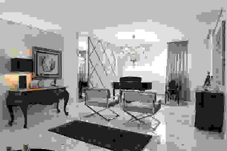 Apartamento Lourdes - Caxias do Sul Salas de estar clássicas por Fabris Franco Arquitetura Clássico