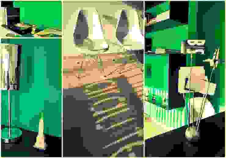 COLLAGE INTERIOR ESTUDIO BS ARQUITECTAS Oficinas y bibliotecas de estilo moderno de BS arquitectas - Beltramo + Scantamburlo Moderno
