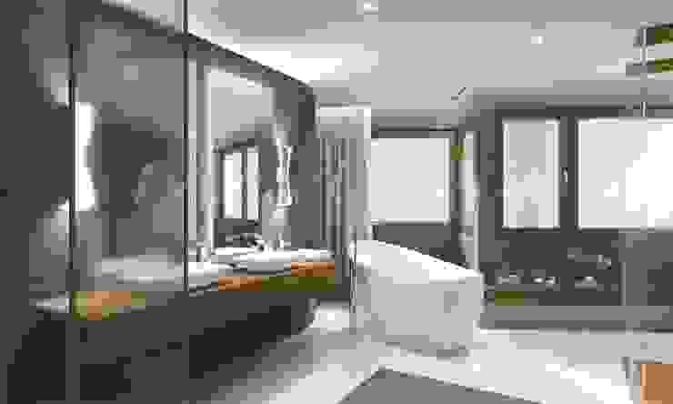 Sinpaş GYO Karaca Residence Modern bathroom by Maviperi Mimarlık Modern