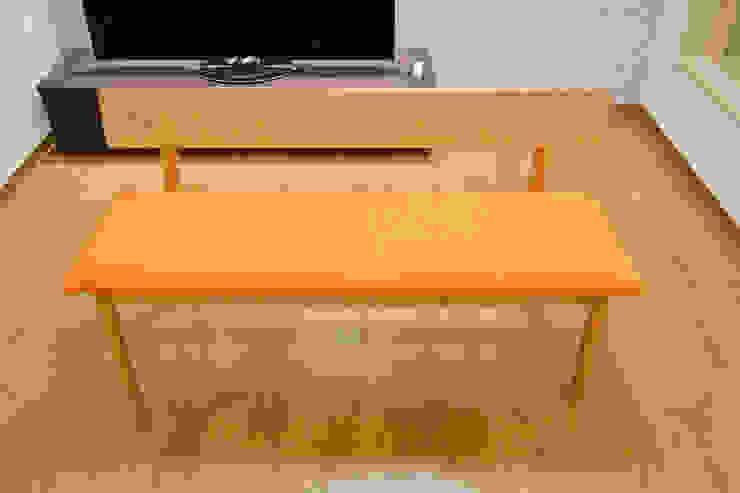 張り座 ベンチ: 株式会社 3rdが手掛けた現代のです。,モダン 無垢材 多色