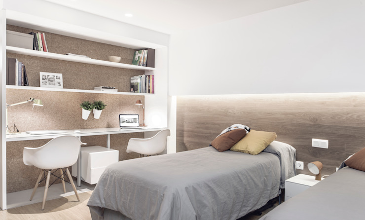 Habitación doble Dormitorios infantiles de estilo minimalista de onside Minimalista