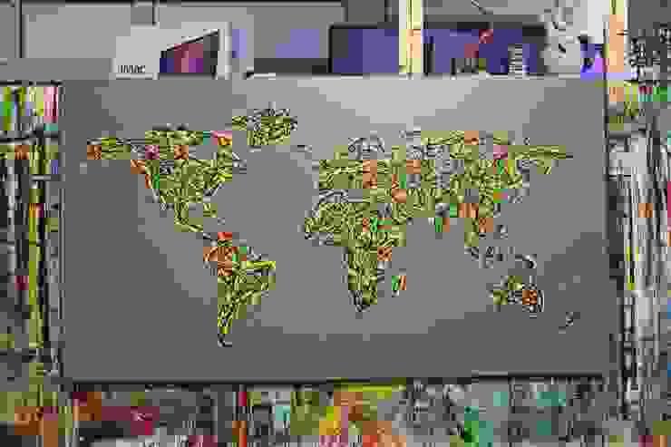 Map Bilder Abstrakt PICTURE MODERN DESIGN ACRYL GEMÄLDE MALEREI VON MICHA ;) von atelier farbenspiele Ausgefallen Baumwolle Rot