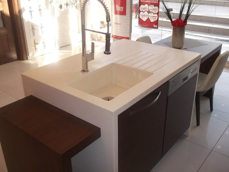 Akrilik Tasarımlar Modern Mutfak Kardesler Mermerit Modern
