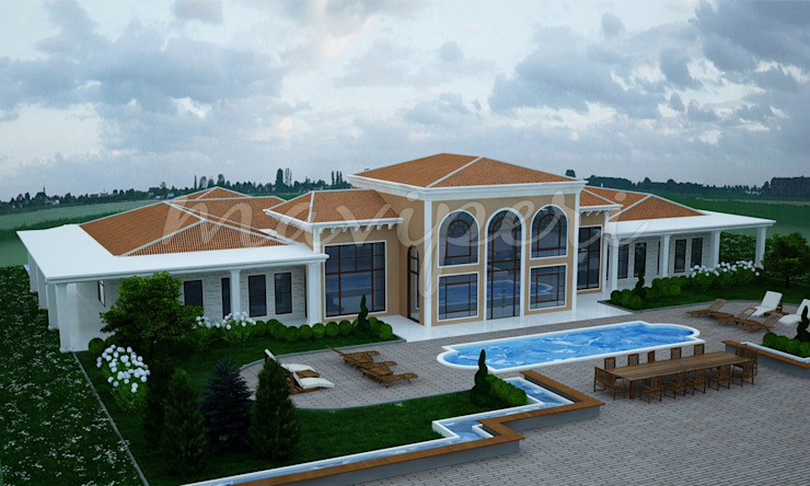 Karatepe Residence Modern houses by Maviperi Mimarlık Modern