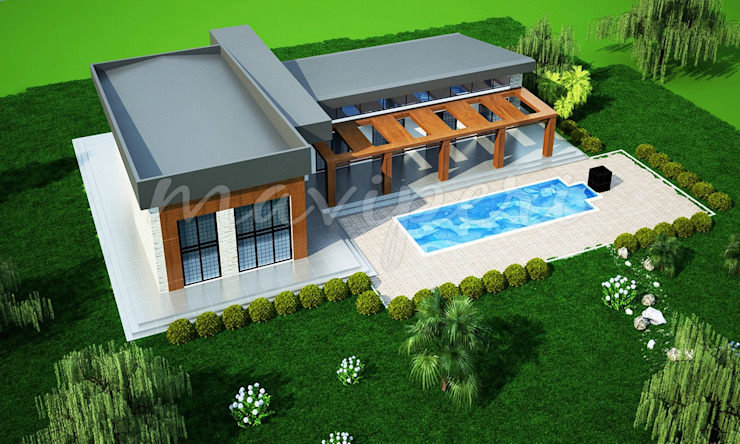 Uğurlu Residence Modern houses by Maviperi Mimarlık Modern