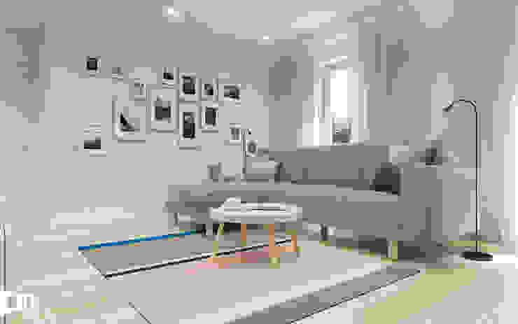 PROJEKT RZESZÓW/ 65 m2: styl , w kategorii Salon zaprojektowany przez TIKA DESIGN,Nowoczesny