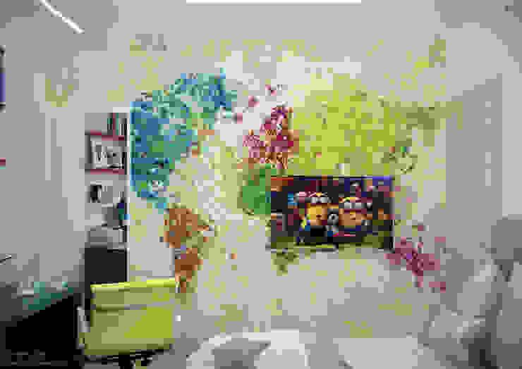 Дизайн детской в современном стиле по ул. Покрышкина Детская комнатa в средиземноморском стиле от Студия интерьерного дизайна happy.design Средиземноморский