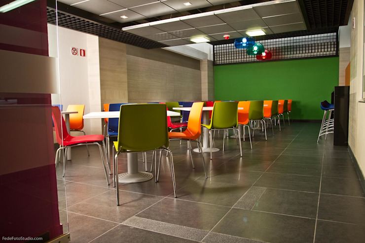 Espacio Cafeteria Cocinas modernas de Qualittá Arquitectura Moderno Contrachapado