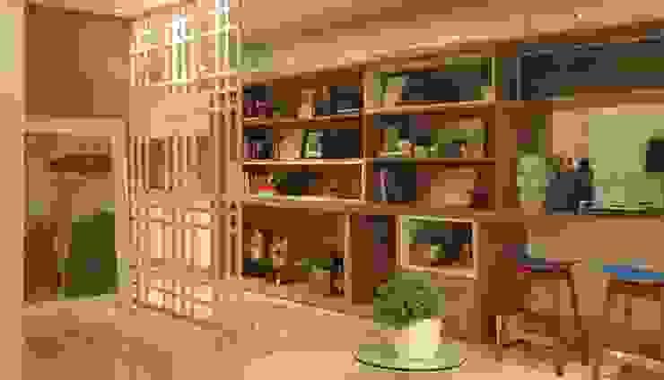 Decorado Apartamento Ária das Artes Salas de estar modernas por CORA ARQUITETURA Moderno