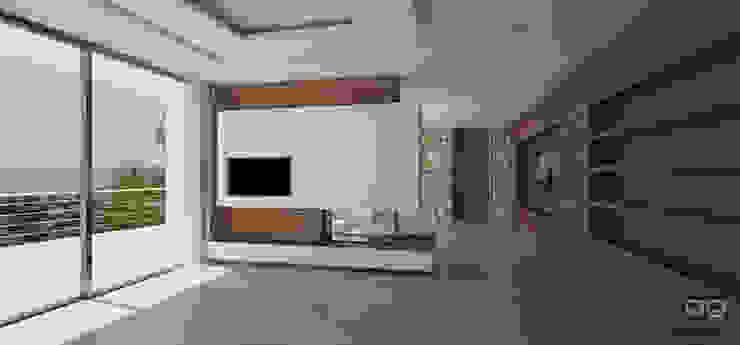 Casa Hoff Salones de estilo moderno de ABestudio de Arquitectura Moderno