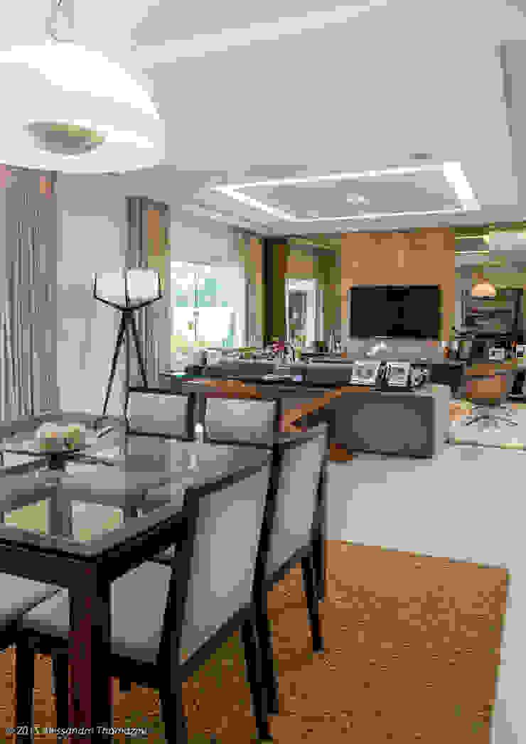 Sala de jantar Salas de jantar modernas por Adriana Leal Interiores Moderno Madeira Efeito de madeira